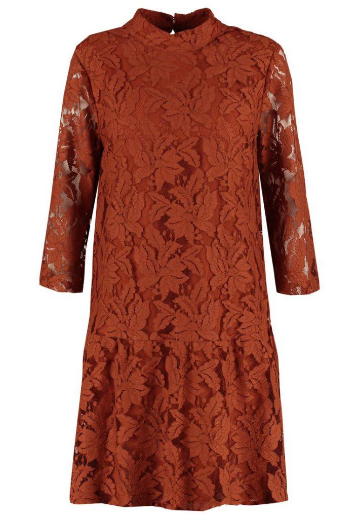 upla-korte-jurk-bruin